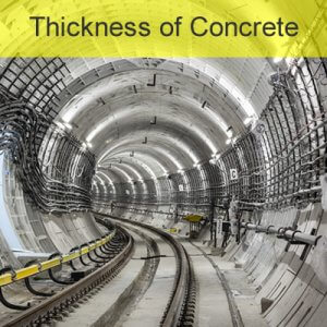 Thickness Measurement of Concrete
