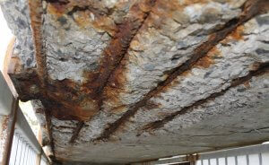 Corrosion of concrete slab