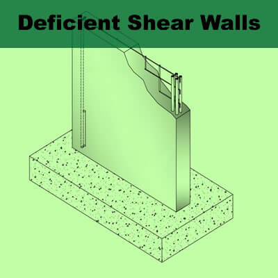 Deficient Shear Walls