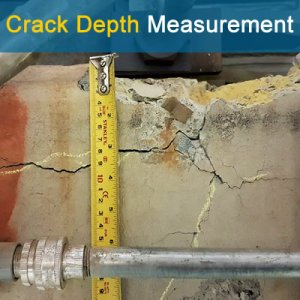 Crack Depth Measurement in Concrete-Feature Pic