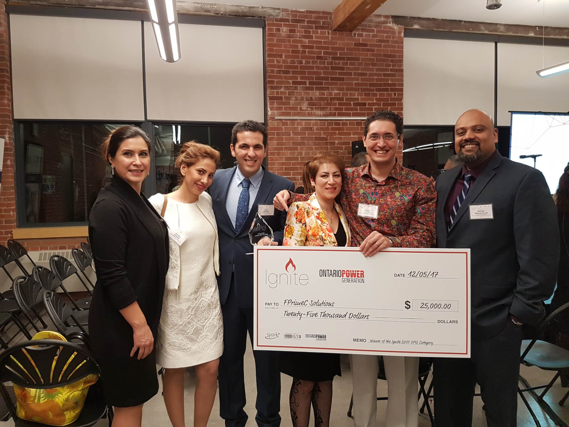 FPrimeC Winner of the OPG Ignite Pitch Competition - Dec 2017