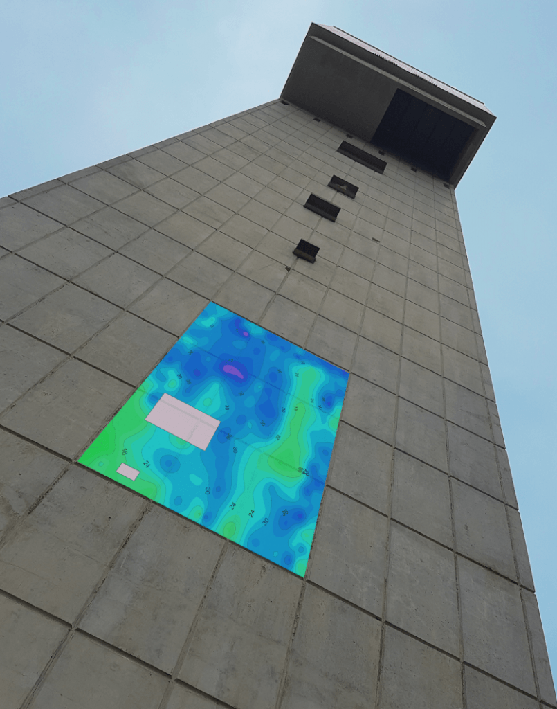 Concrete Scanning and Imaging using Ultrasonic Tomography
