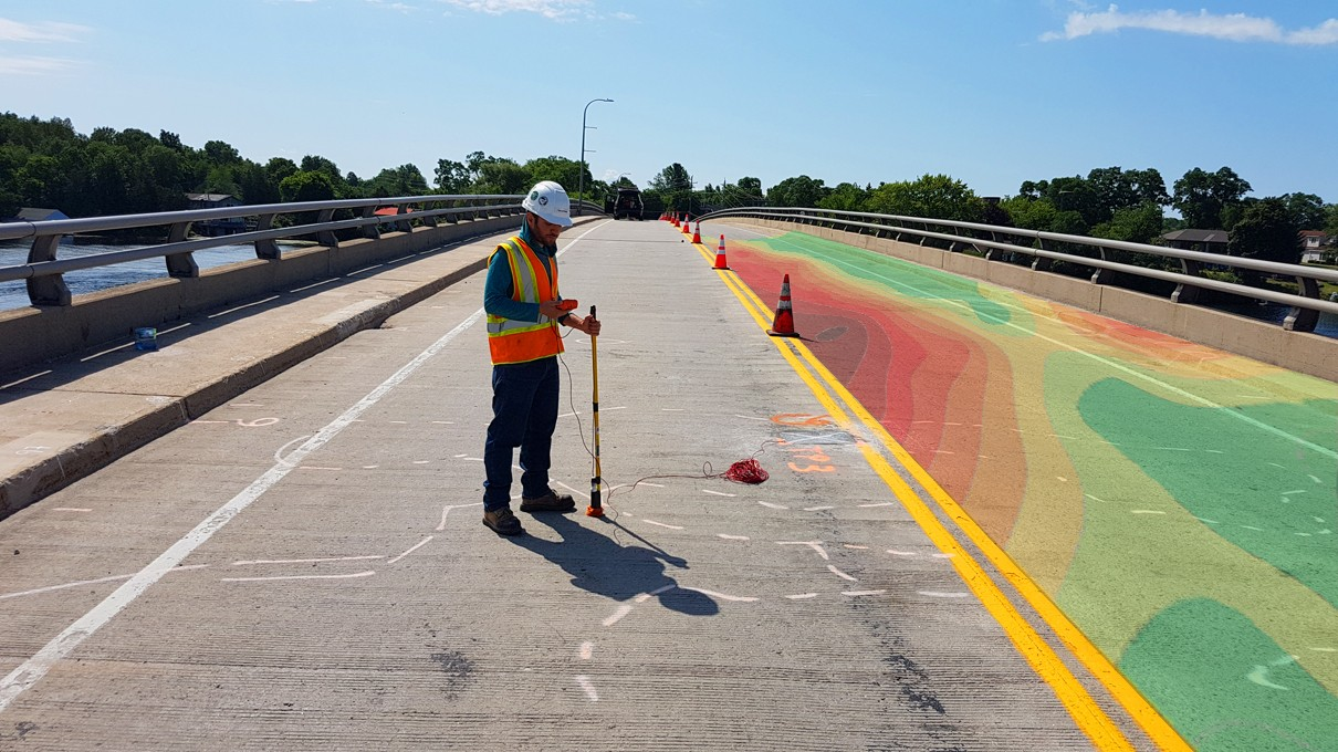 Bridge Deck Condition Survey - Ultrasonic Pulse Velocity and Pulse Echo