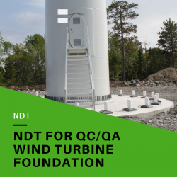Non-Destructive Testing of Wind Turbine Foundation