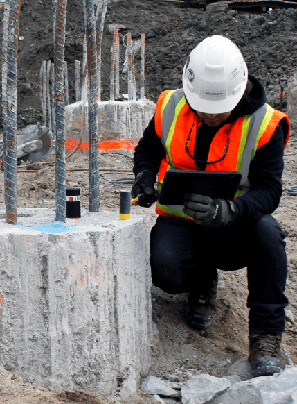 non-destructive testing of concrete foundations