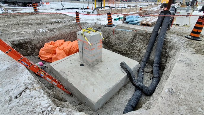 Concrete Footing - In-Place Compressive Strength - NDT Testing - FPrimeC
