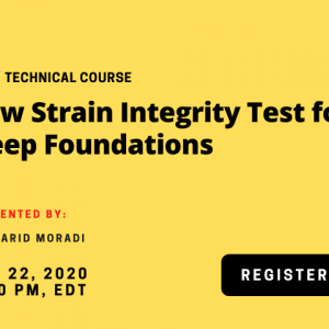 Low Strain Integrity Test for Deep Foundations
