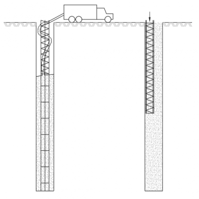 Pile Defects - Problems arising from Free Fall Concrete and Segregation